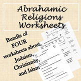 Abrahamic Religions Worksheets (Judaism, Christianity, Islam)