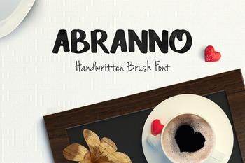 Abranno Font Handwriting Font Brush Font Handwritten Font Cute Font