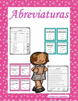 Abreviaturas - Abbreviations (Spanish)