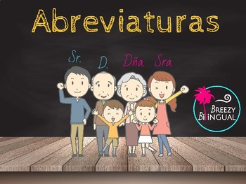 Abreviaturas/ Abbreviations in Spanish