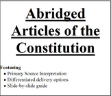 Abridged Articles of the Constitution
