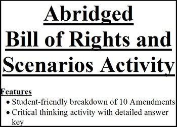Abridged Bill of Rights with 13 Scenarios