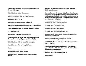 Abridged Shakespeare for English Classes: Macbeth (modern text)