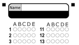 5 Abridged Zip Grade Answer Sheets