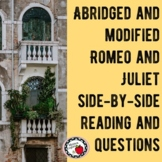 Abridged and Modified Romeo and Juliet Side-by-Side Text a