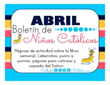 Abril 2016 Boletín de Niños Católicos: Mass Bulletins in Spanish!