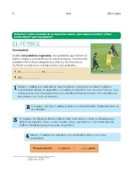 Spanish 1 - Cultural acivities for entire school year - Abrir paso Libro 1
