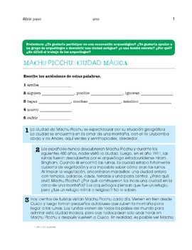 Spanish 3 - Culture for entire year - Interdisciplinary -Abrir paso Libro 3