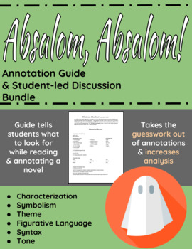 Absalom, Absalom! Annotation Guide and Student-led discussion bundle