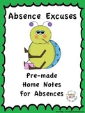 Absence Excuse Notes