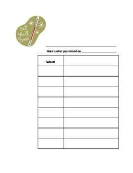 Absent Assignment Sheet