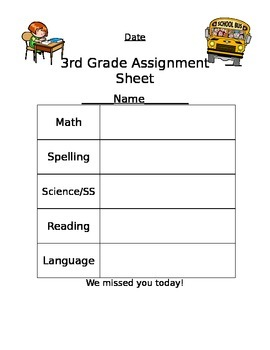 Absent Assignments Log