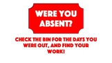 Absent Bin Display