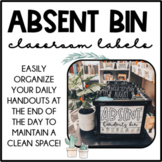 Absent Bin Label by Month
