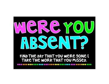 Absent Bin Sign