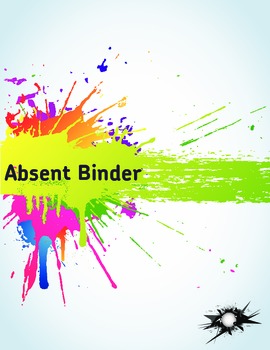 """Absent Binder Cover (8.5"""" x 11"""")"""