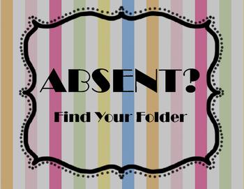 Absent Find Your Folder