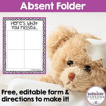 Absent Work Folder {FREE}