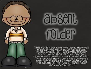 Chalkboard Absent Folders