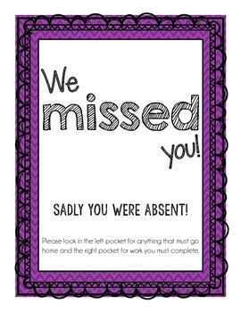 Absent Folder Cover Page