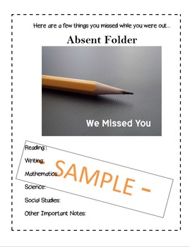 Absent Folder Cover Page: Catching Students Up