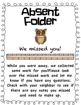 Absent Folder Cover Sheet