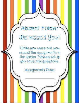 Absent Folder Covers