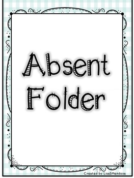 Absent Folder Covers - Beachy