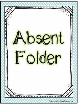 Absent Folder Covers - Chevron