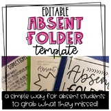 Absent Folder Editable Template