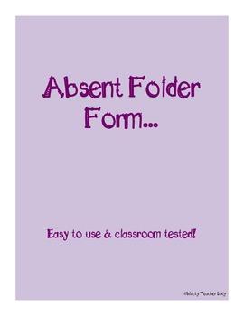 Absent Folder Form