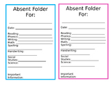 Absent Folder - Pink and Blue