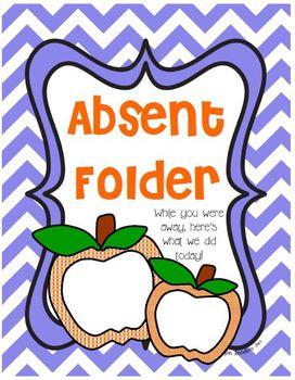 Absent Folder Printables
