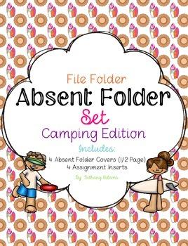 Absent Folder Set ~Beach Edition~ Just Add a File Folder!