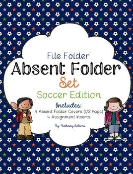 Absent Folder Set ~Soccer Edition~ Just Add a File Folder!