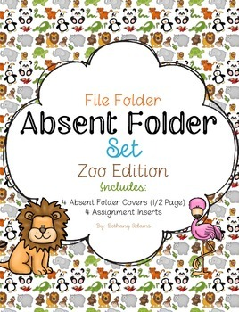 Absent Folder Set ~Zoo Edition~ Just Add a File Folder!