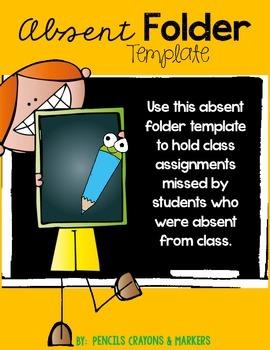 Absent Folder Template (boy)