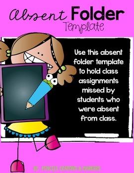 Absent Folder Template (girl)
