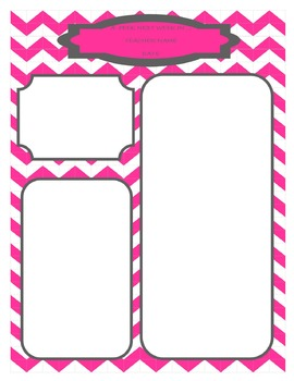 Absent Form and Newsletter - Hot Pink Chevron