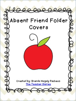 Absent Friend Folder Cover (Chevron)