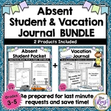 Absent Student & Vacation Journal BUNDLE of 2 Products for Any Type of Absence