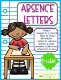 Absent Letter - Bilingual