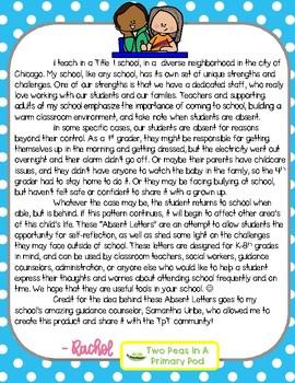 Absent Letter - Bilingual