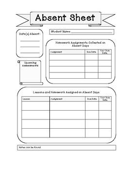 Absent Sheet