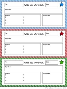 Absent Slips - Classroom Form