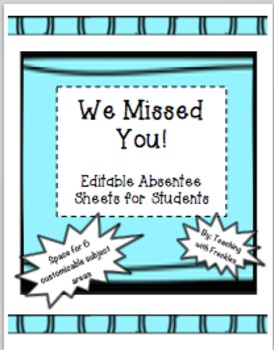 Absent Student/ Absentee Work Paper