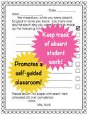 Absent Student Checklist