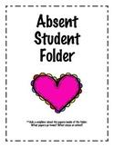 Absent Student Folder Cover Sheet