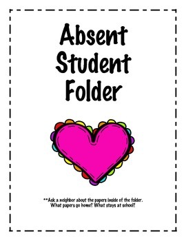 Absent Student Folder Cover Sheet