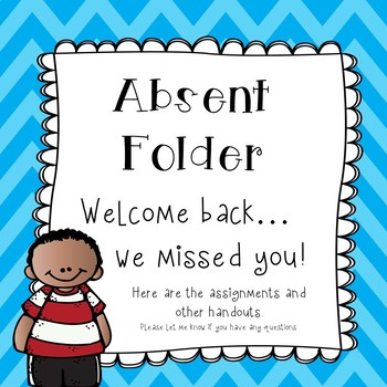 Absent Student Folder Covers